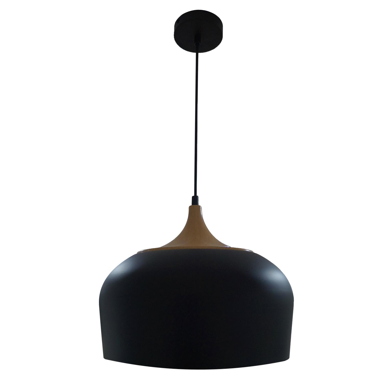 Lámpara Avellana metal negro