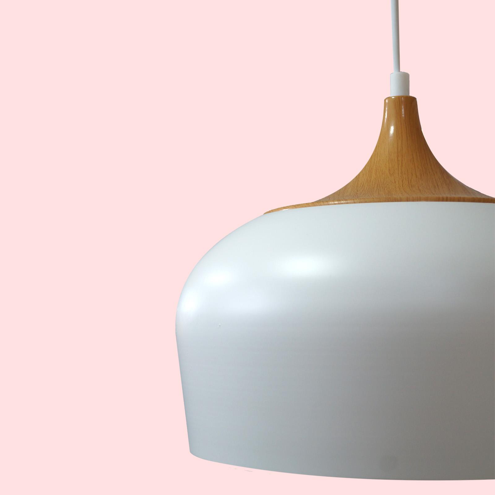 Lámpara Avellana metal blanco
