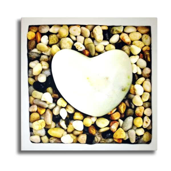 Cuadro Coeur de Pierre - Corazón de piedra - impreso