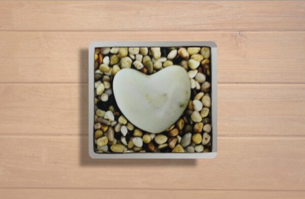 Cuadro corazón de piedra
