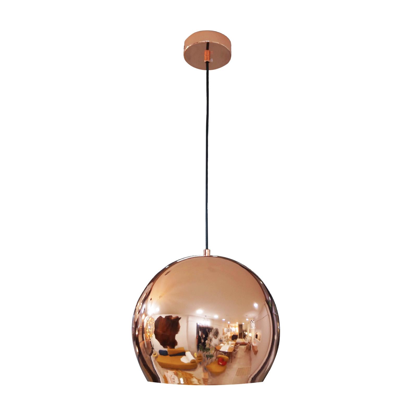Copa invertida - Lámpara de metal cromado