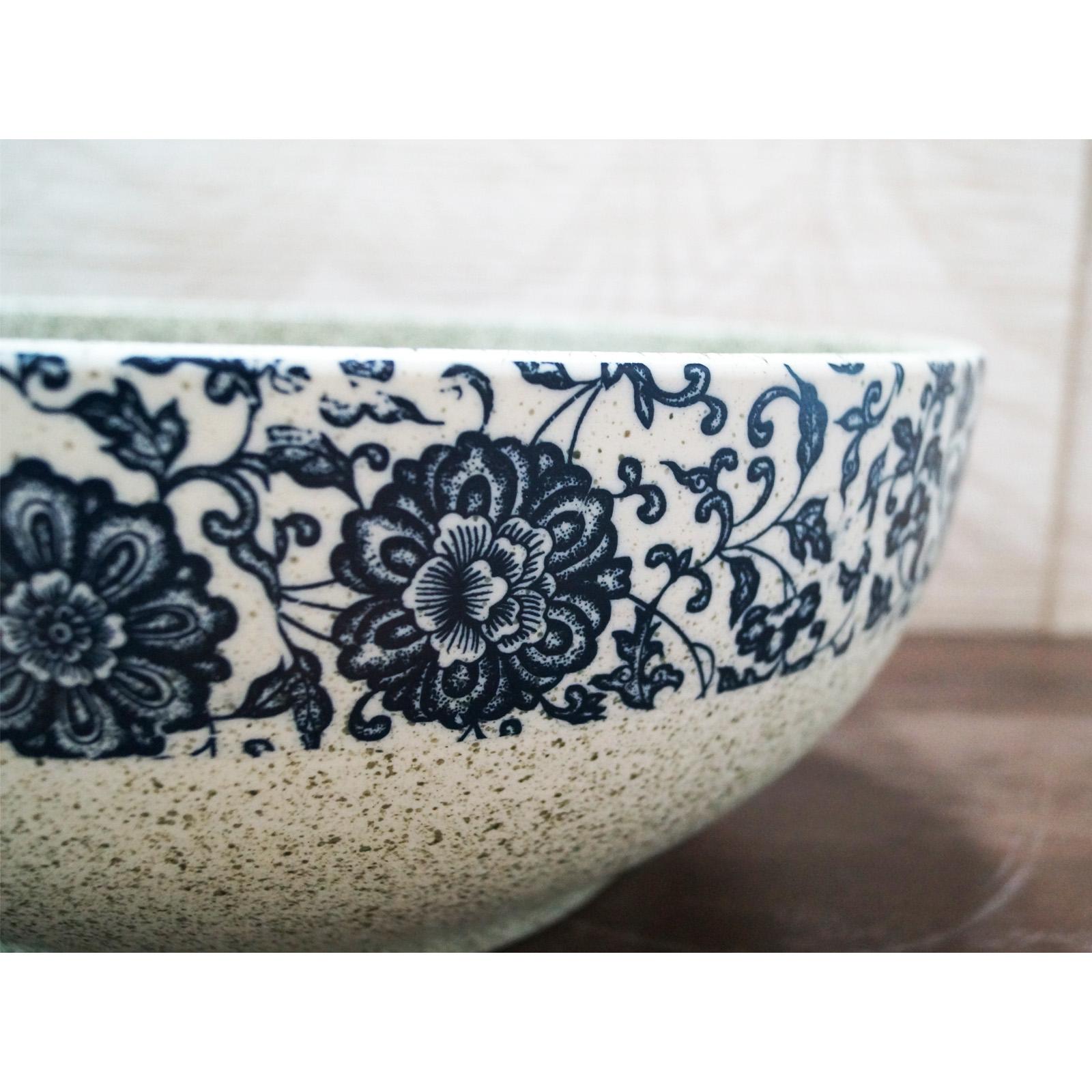 Lavabo de cerámica - flores silvestres