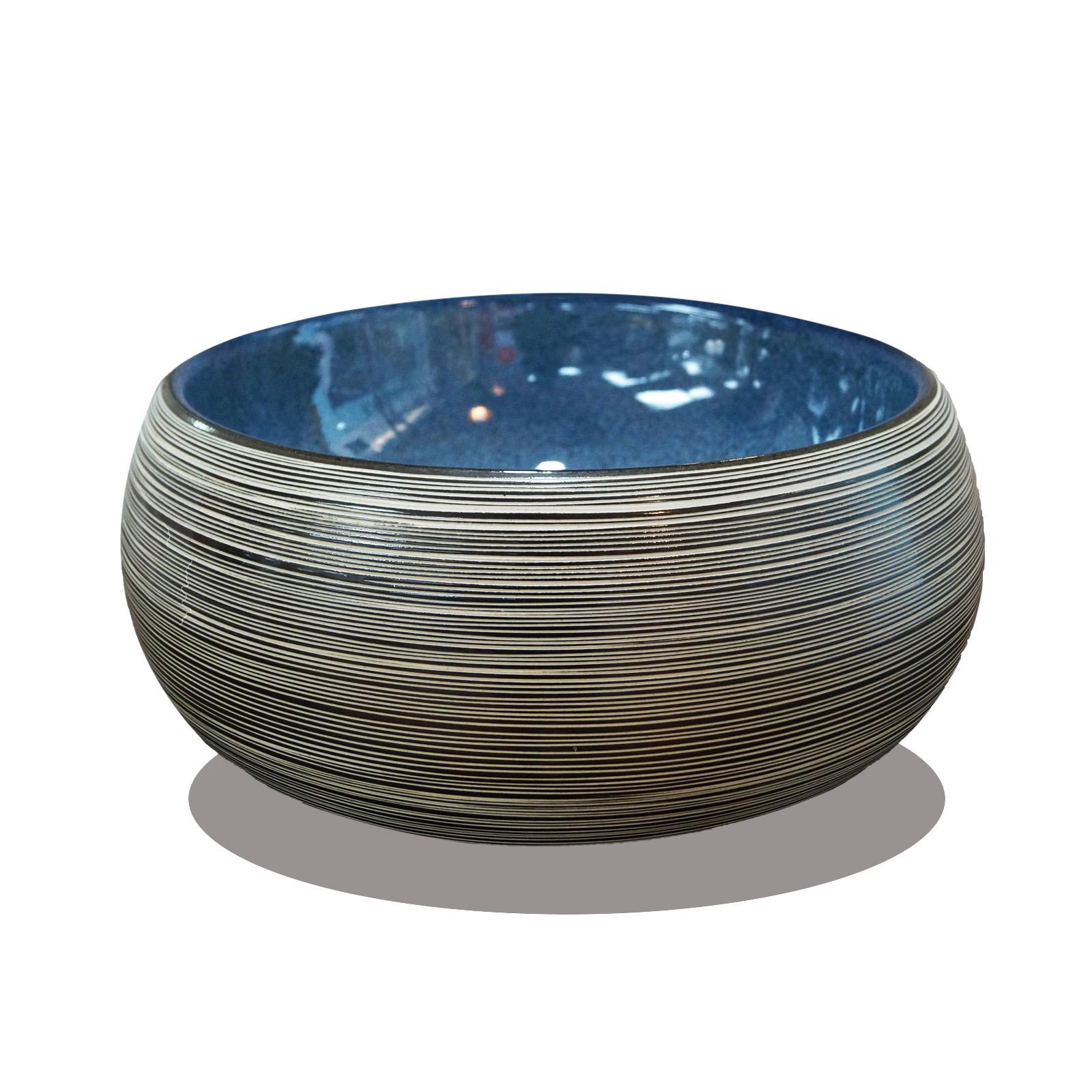 Lavabo de cerámica - color azul