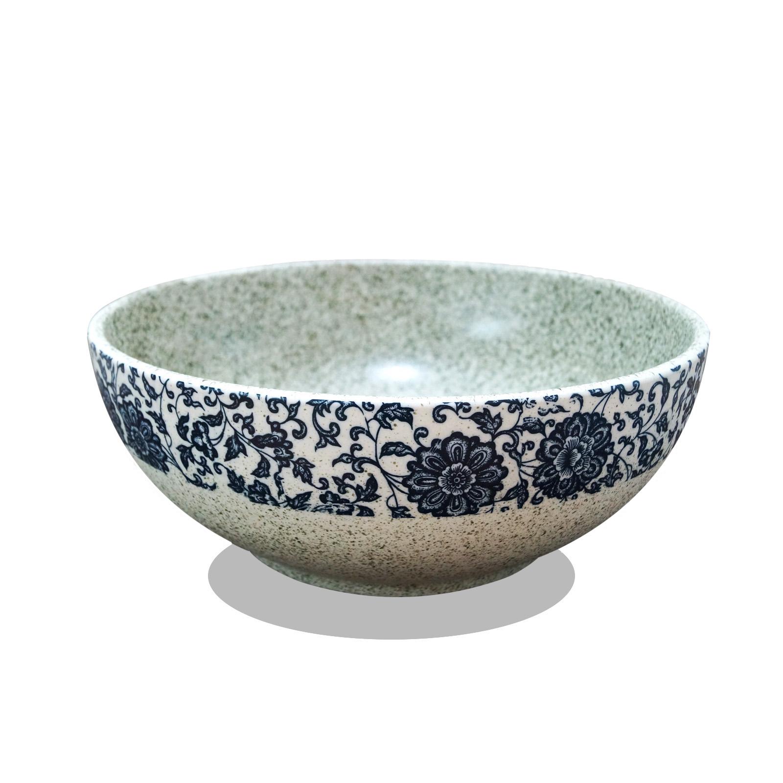 Lavabo de cerámica - flores sylvestres