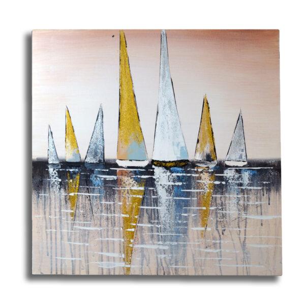 Cuadro al oleo - Les bateaux
