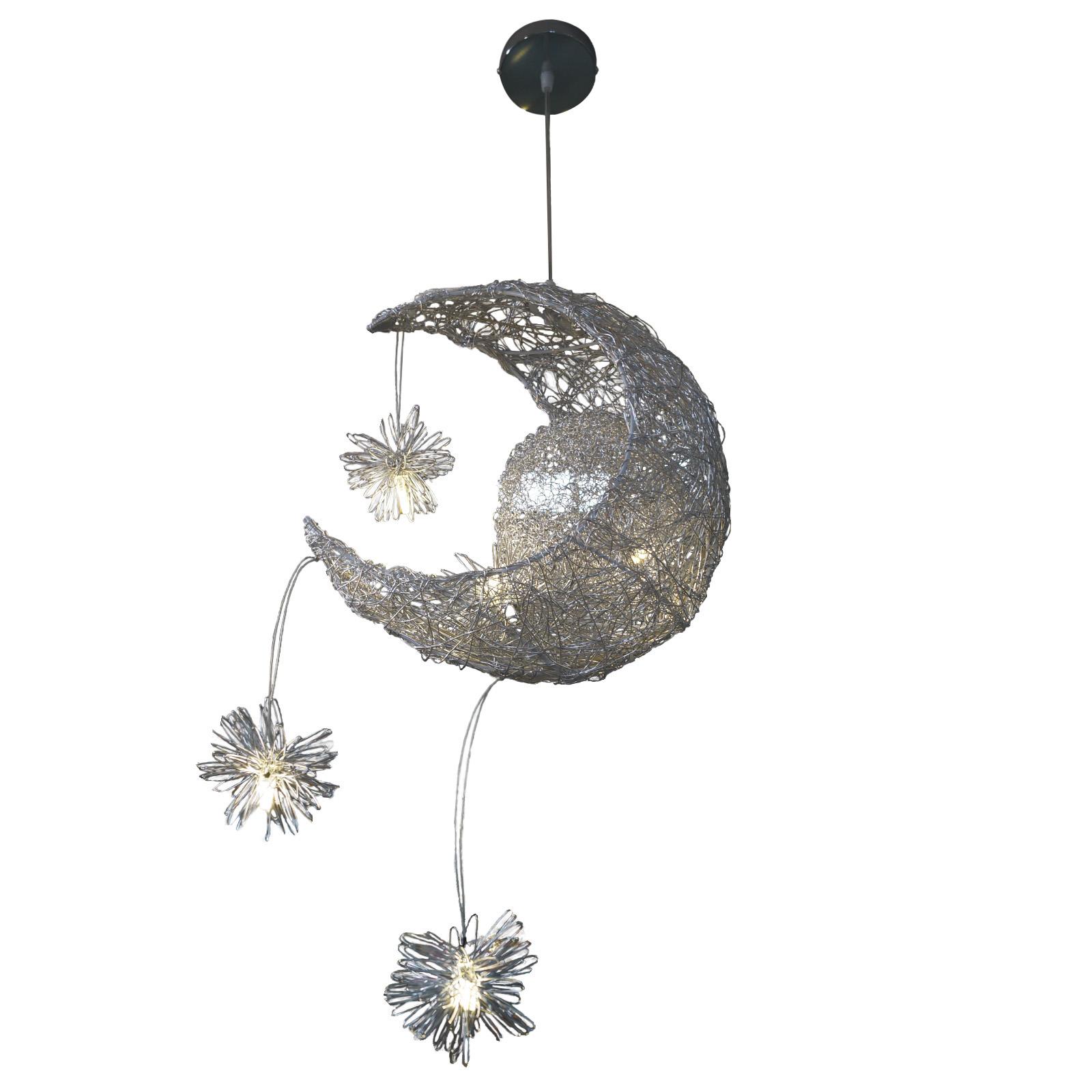 Lámpara forma de luna hecha de aluminio