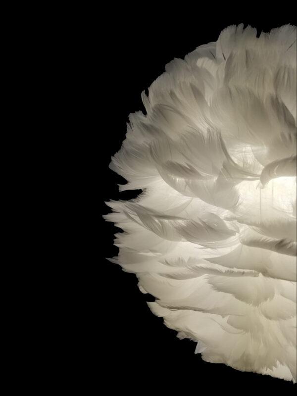 lámpara de plumas