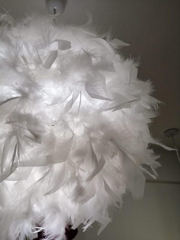 Lámpara de plumas de ganso