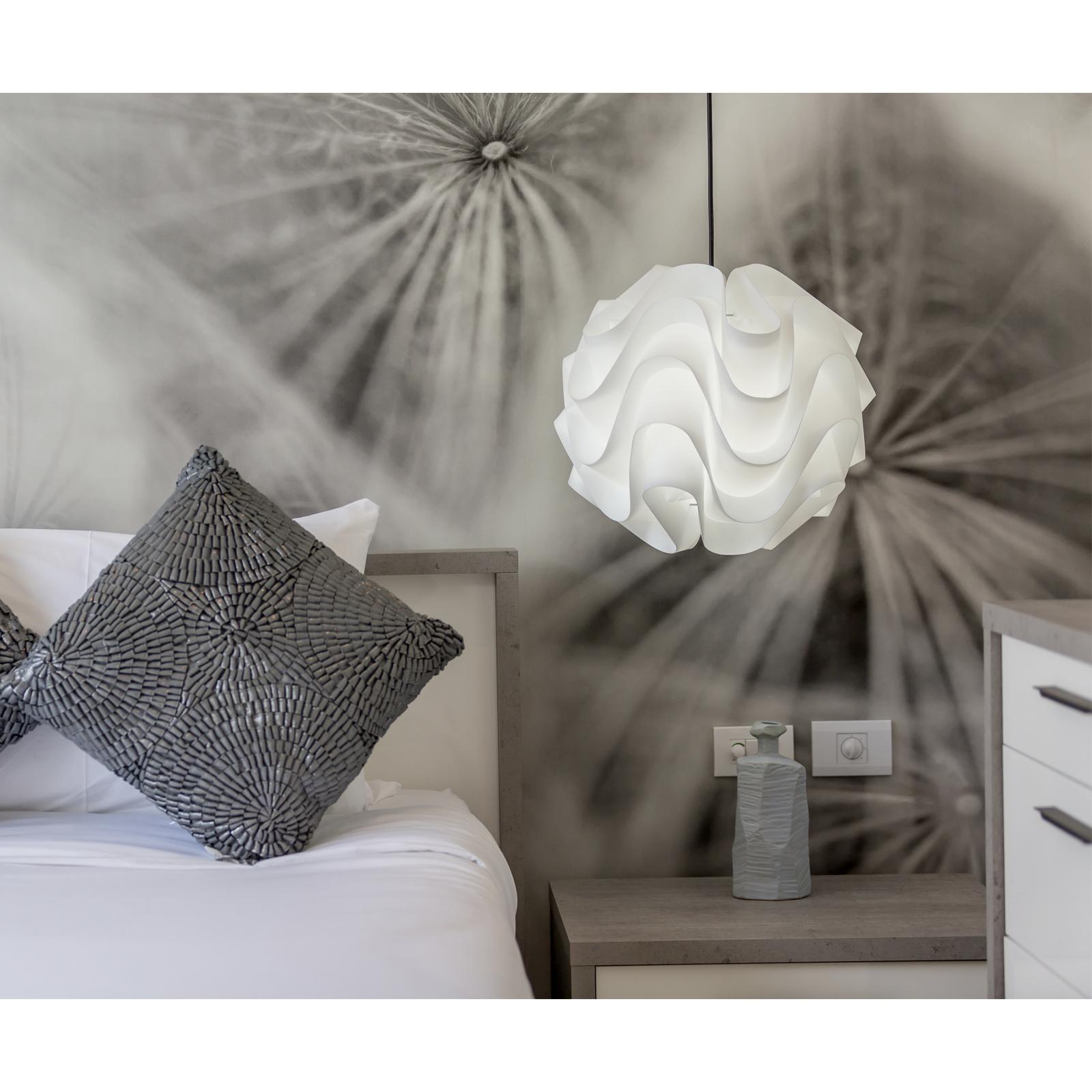 Lámpara ola - decoración dormitorio