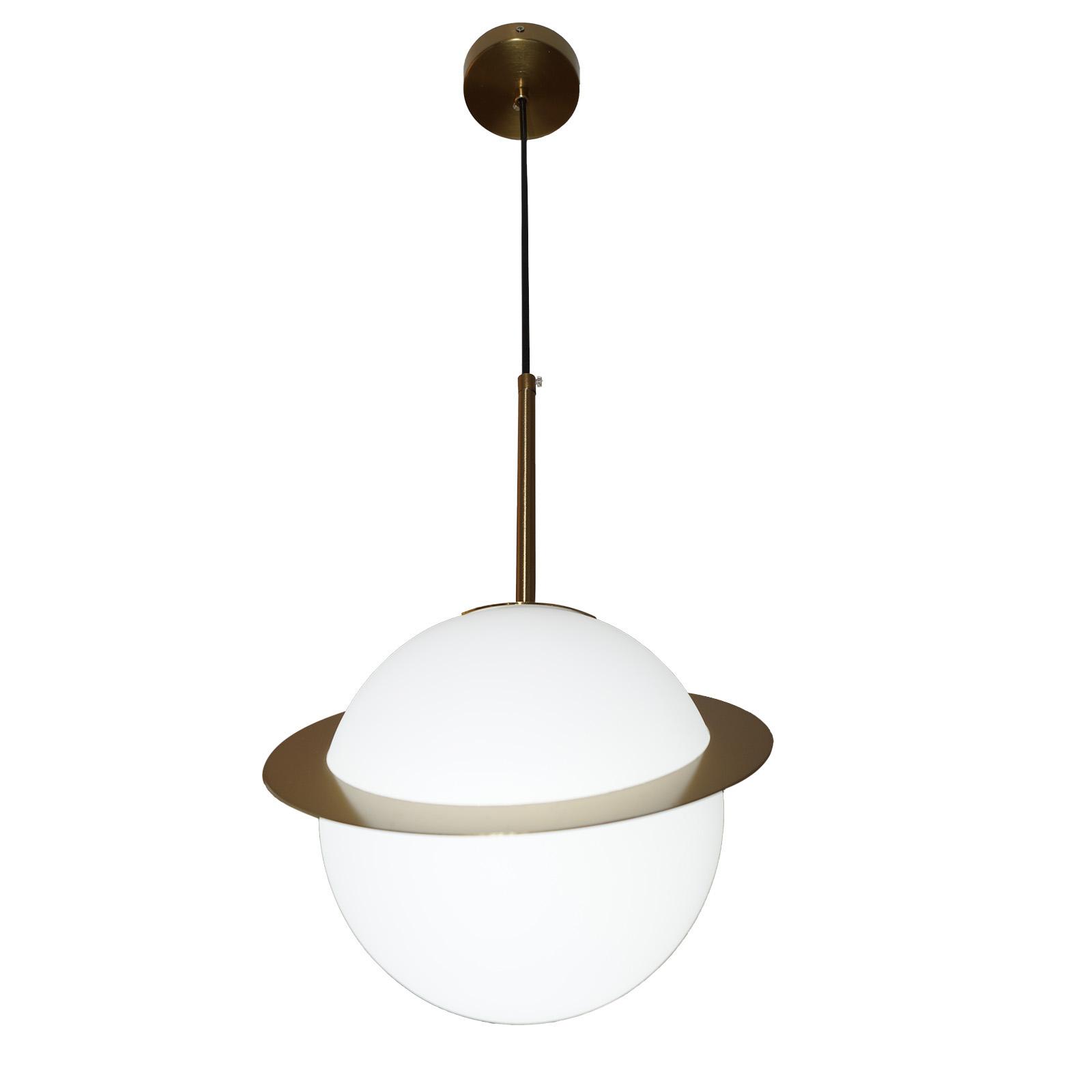 Lámpara Planetaria con anillo oro. Lámpara inspirada en un planeta