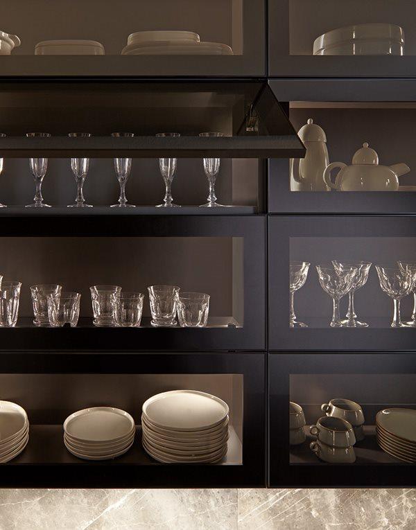 Muebles de cocina con cristal